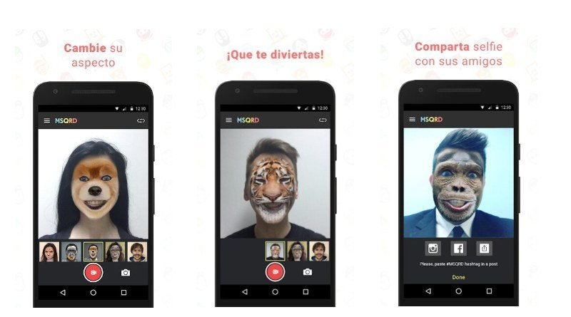 MSQRD realidad aumentada filtros faciales