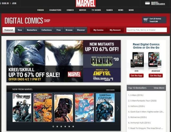 Marvel cómic digital