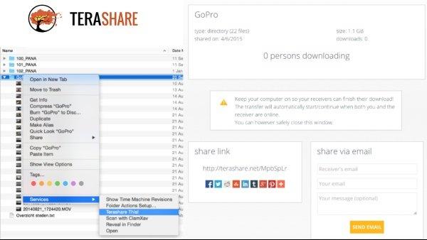 Tera share Compartir archivos pesados