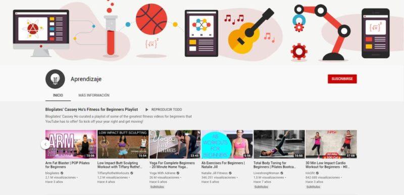 YouTube Aprendizaje