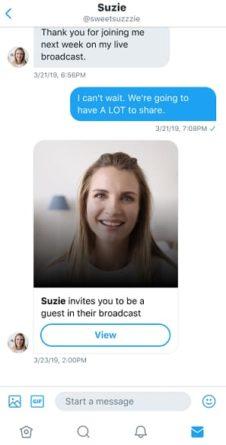 Mensaje directo invitación vídeo