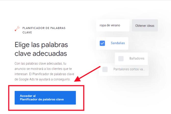Acceder a Google Keyowrd Planner
