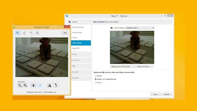 Convertir Smartphone en WebCam