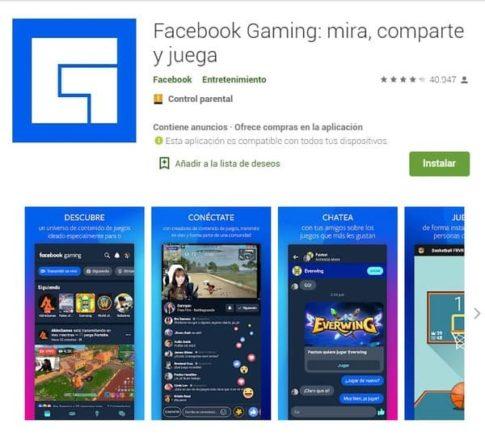 Facebook Gaming videojugos