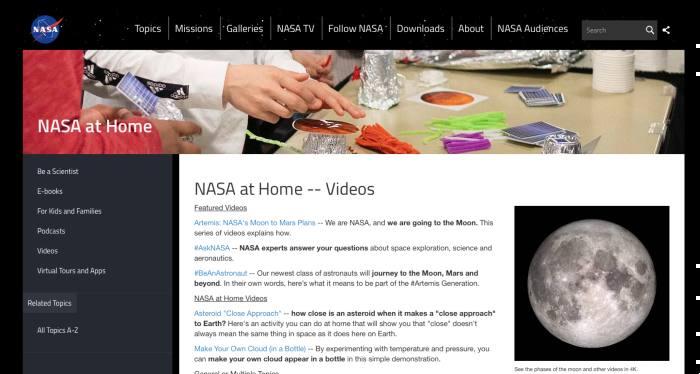 Web de Nasa at Home