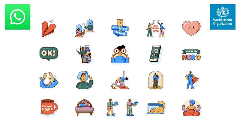 Nuevos sticker WhatsApp covid-19 OMS