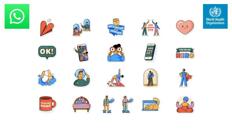 Nuevos sticker WhatsApp covid-19 OMS
