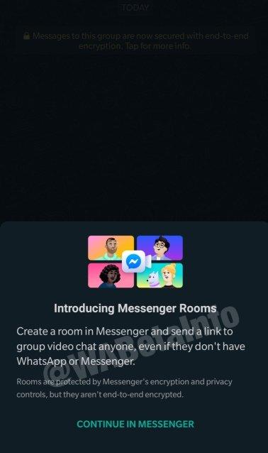 Salas en Messenger WhatsApp