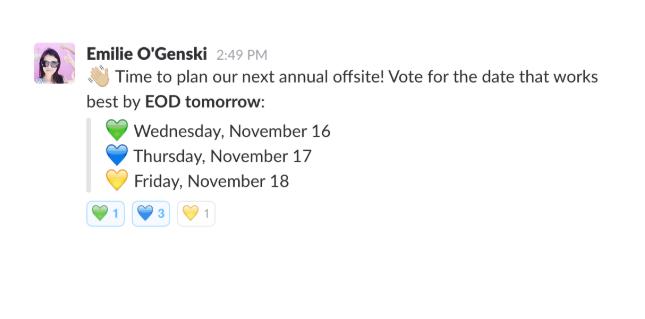 Votaciones en Slack