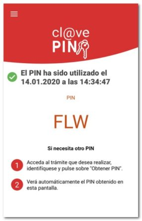 app de cl@ve PIN