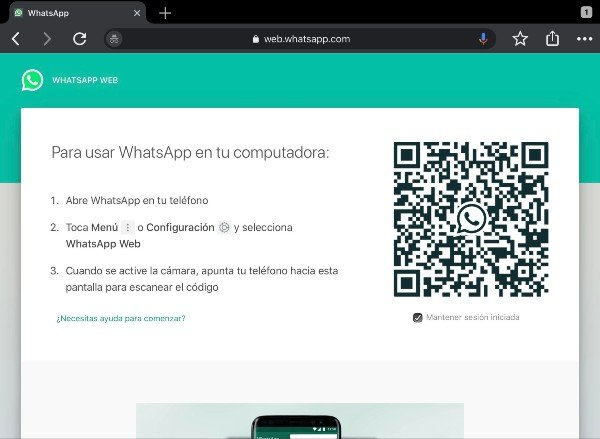 whatsapp ipad 1
