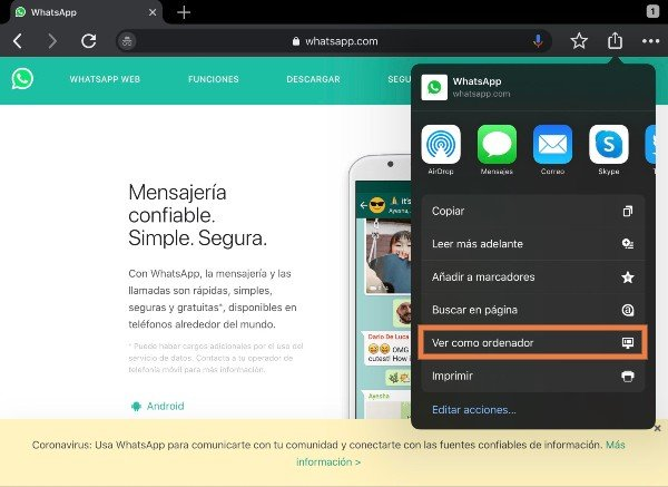 whatsapp ipad 2