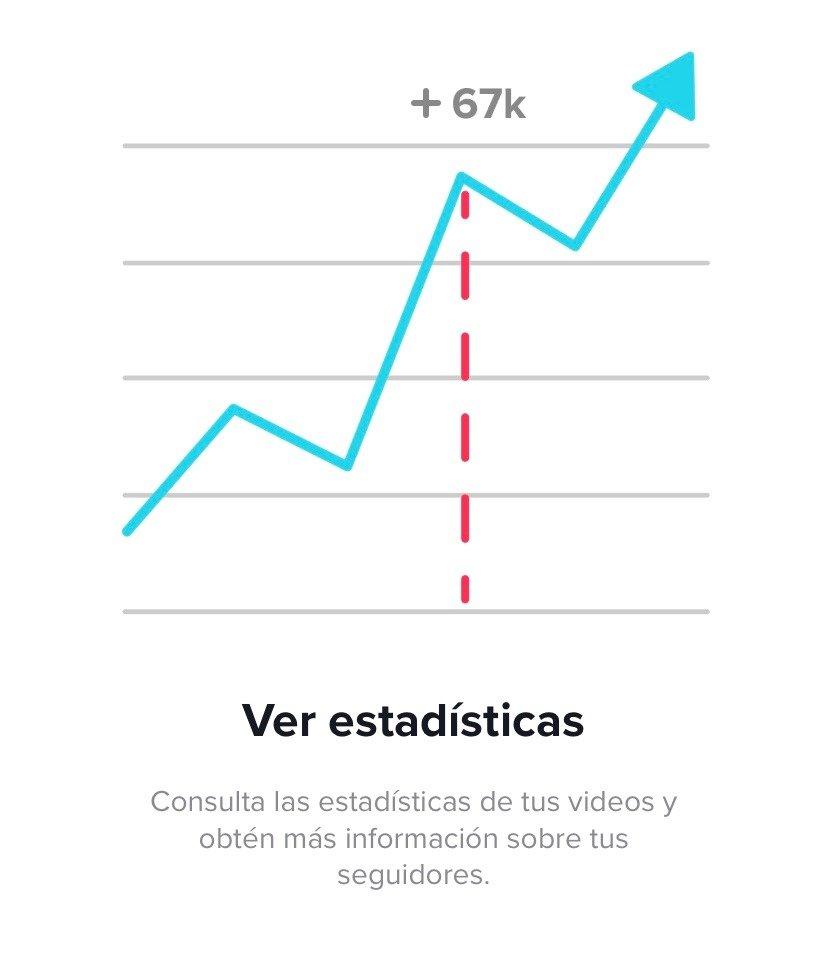 Ver estadísticas en TikTok