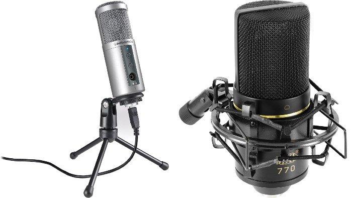 Audio condensador crear podcasts