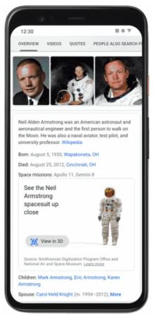 Museo espacial en Google