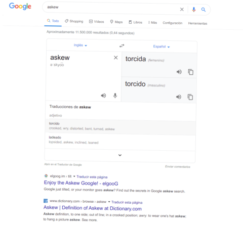 Google Juego Askew