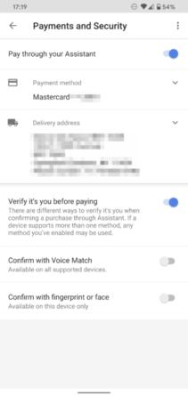 Pago por voz Asistente de Google