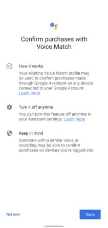 Guía paso a paso pago por voz del Asistente de Google