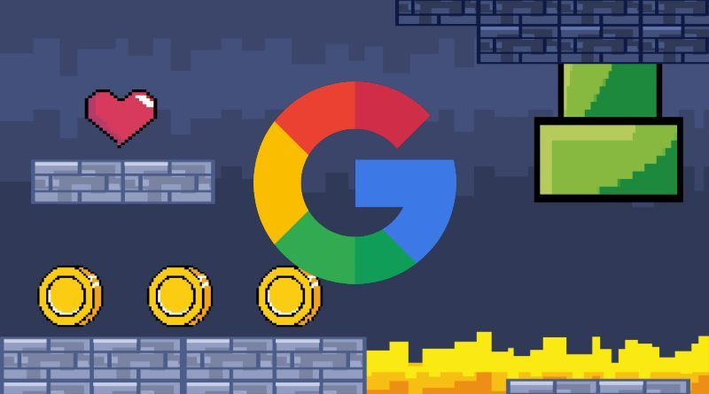 Google Mario 8 bits