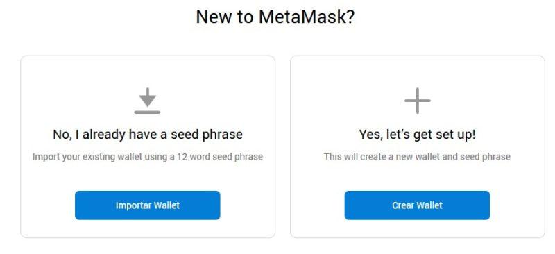 nueva cartera metamask
