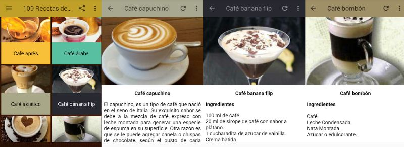 Recetas para preparar café