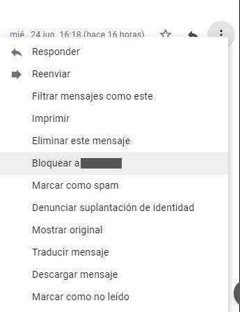 Bloquear correo Gmail