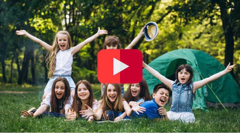 YouTube campamento virtual