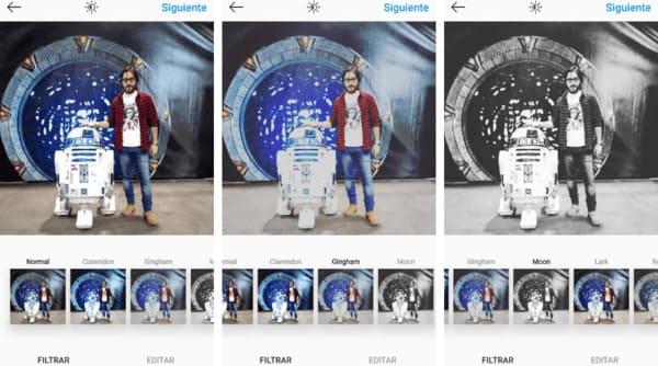Comparativa de filtros de Instagram