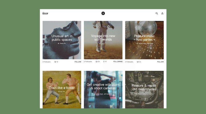 Nueva aplicación similar a Pinterest