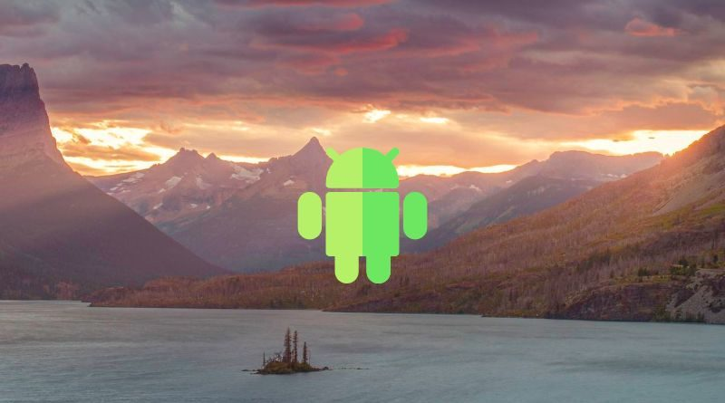 Foto del paisaje que bloquea Android