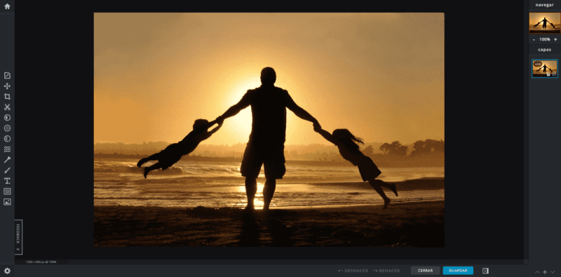 Pixlr X app online para retoque de imágenes