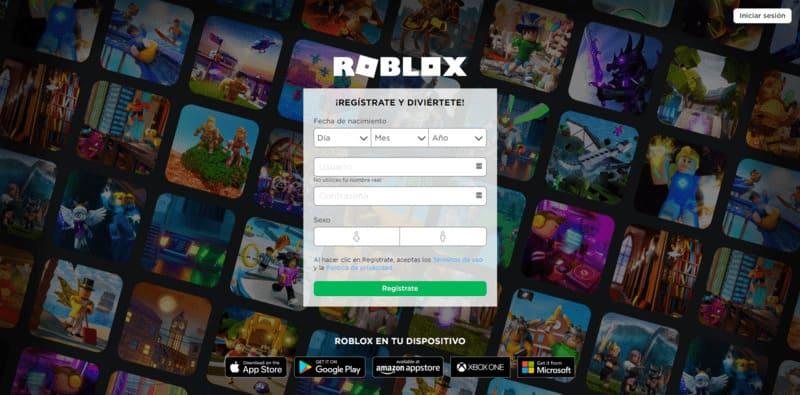 Roblox Página Principal