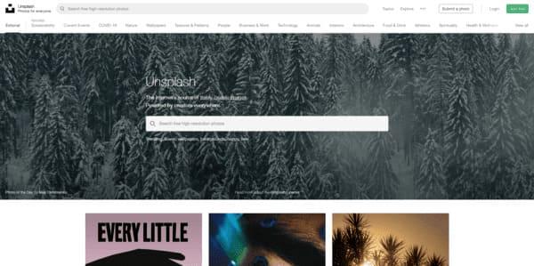 Unsplash repositorio con imágenes gratuitas en Internet