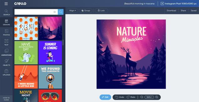 Crello, alternativa online a Photoshop