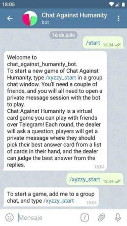 Chat Against Humanity en Telegram