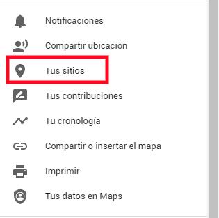 Google Maps crear ruta