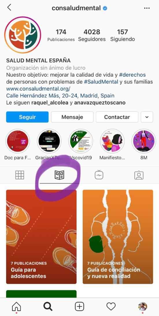 Guías Salud Instagram