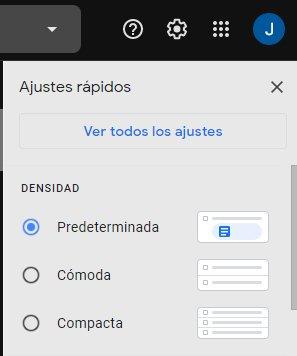 Ajustes de Gmail