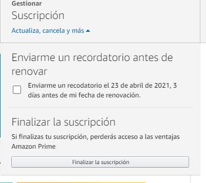 Suscripción Amazon Prime Video