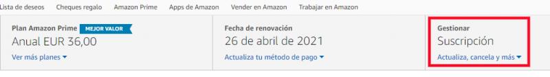 Paso final en la baja de Amazon Prime Vide