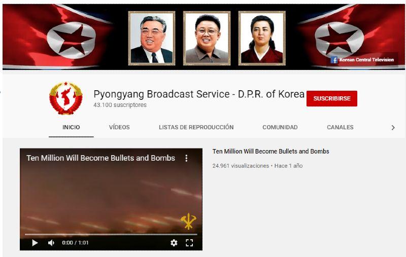 YouTube Corea del Norte