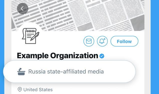 Twitter etiqueta medios