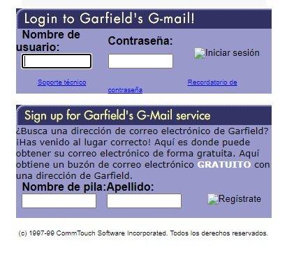 Gmail Garfield