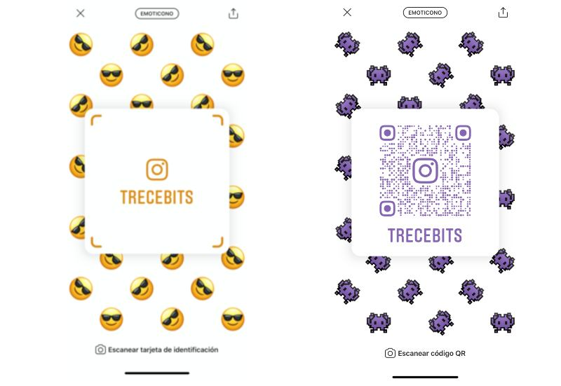 Evolución códigos QR Instagram