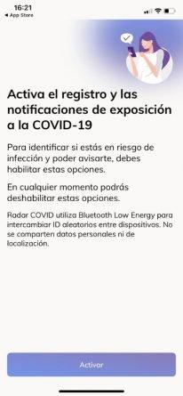 Radar Covid Bluetooth