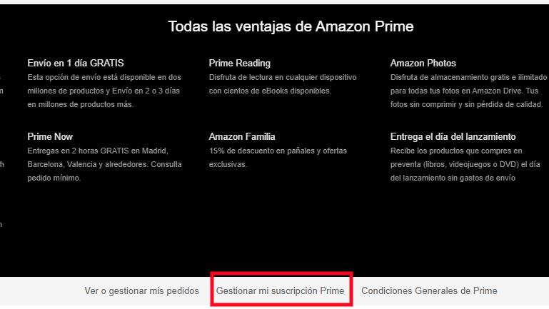 Ventajas de Amazon Prime Video