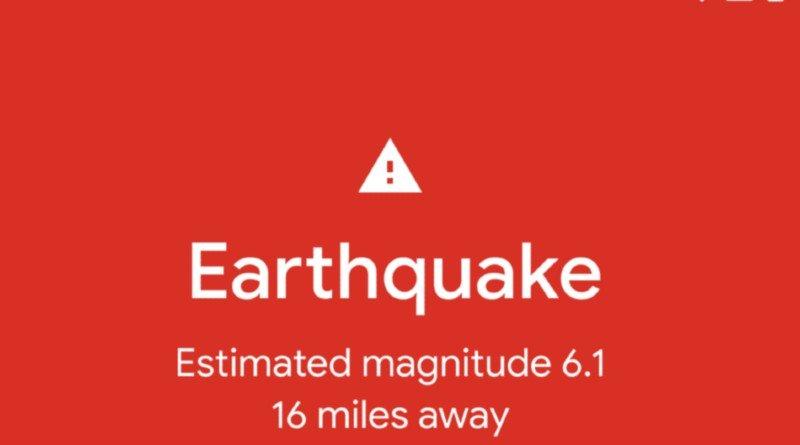 Notificación Terremoto