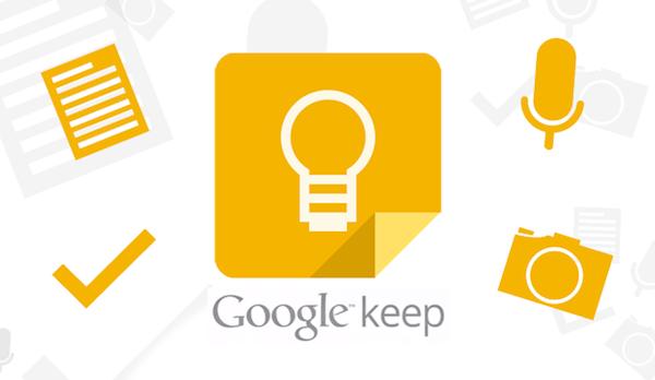Google Keep para tomar notas