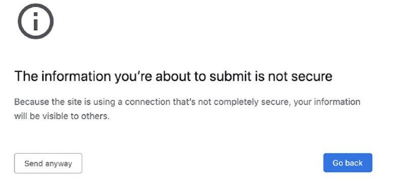 Google Chrome Aviso