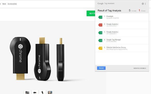 Tag Assitant extensión para configurar etiquetas de Google